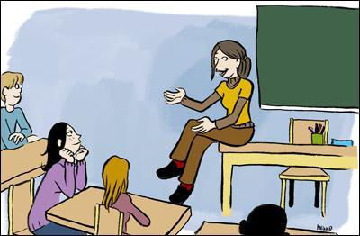 Je suis dans une école, je t'apprends des choses, j'écris parfois au tableau. Je suis...