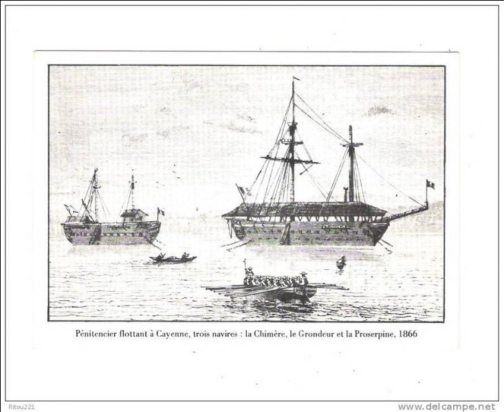 La Chimère, Le Grondeur et La Truite étaient des pénitenciers flottants qui se trouvaient au large de Cayenne et Kourou. Sur quel océan flottaient ces navires ?