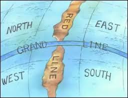 Géographiquement, où se trouve le village de Luffy ?