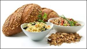 Quels aliments sont d'importantes sources d'amidon et donc de glucides complexes ?