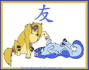 Deux personnages de l'akatsuki :