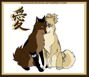 Un ninja de Konoha et une kunoichi de Suna :