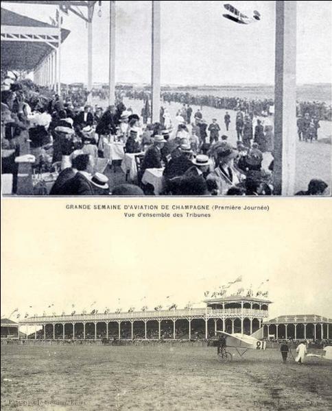 Base aérienne 112 Reims-Champagne est un des grands lieux de l'histoire de l'aviation. Environ 1 million de personnes se sentirent concernées, intéressées par un événement ! Que se passa-t-il entre les 22 et 29 août 1909 ?