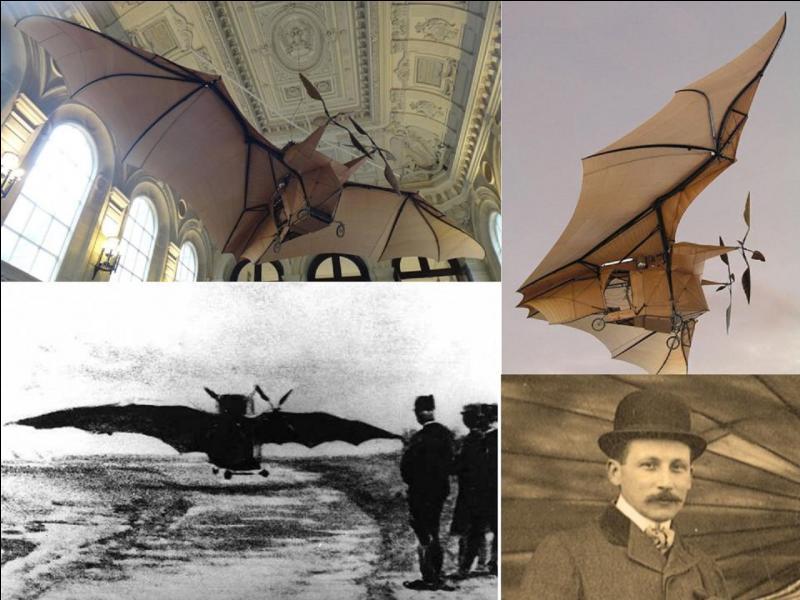 En 1890, 1891 et enfin en 1897, furent effectués les premiers vols motorisés. Ces tentatives, bien que réussies, ne seront pas considérées comme étant les premiers vols de l'histoire. Par contre, ce sont les 1e décollages contrôlés.Qui en était l'auteur (ou les auteurs) ?