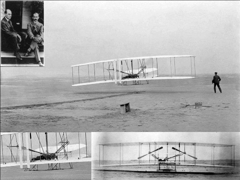 Le 17 décembre 1903, les frères Wright réalisent le premier vol officiel d'un être humain à bord d'un « plus lourd que l'air ». Ce fut l'un des deux frères qui pilota le « Wright Flyer ».Seriez-vous capable de nommer le pilote de cet avion ?