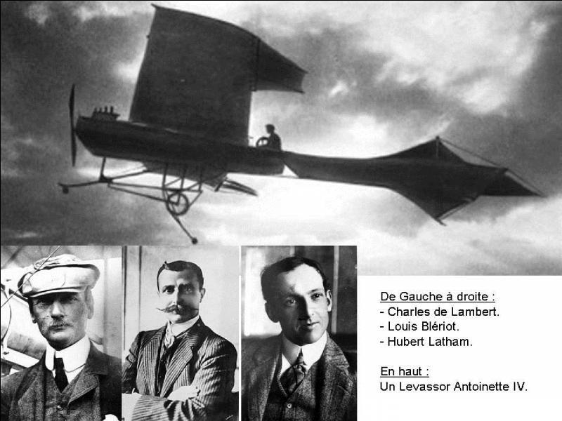 Le 17 Juillet, il tenta de traverser la Manche, mais il se crasha en mer. Louis Blériot lui grillera la politesse en réussissant cette traversée. Cela se passait le 25 juillet 1909.Qui est cet aviateur ?
