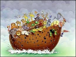La terre va être recouverte d'eau ! Il n'y aura plus de terre, seulement de l'eau. Un homme décide d'embarquer des animaux de toutes espèces sur un bateau. Il s'agit de :