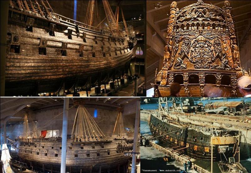 Ce navire doit détenir le record du temps de service le plus court de l'histoire de la marine. En effet, au bout d'environ 1 mille marin, il chavira puis coula. Renfloué, on peut l'admirer dans la capitale de son pays d'origine ! C'était un navire de guerre.Quel est ce navire ?