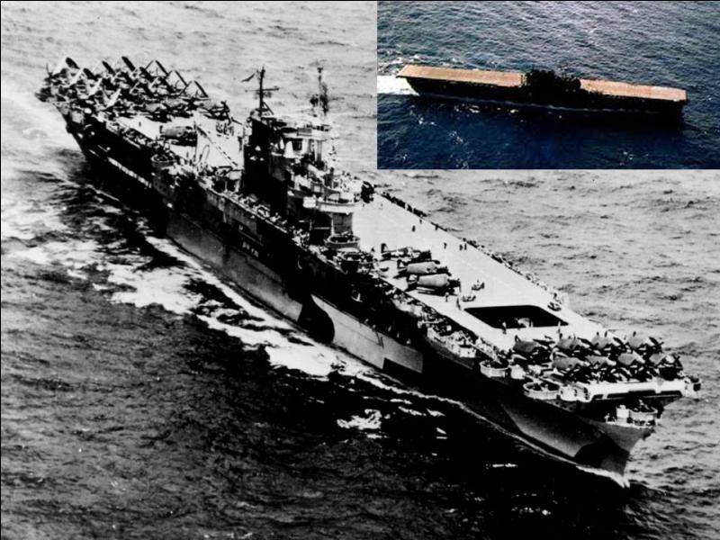 Il a participé au raid de Doolittle sur Tokyo, à la bataille de Midway, à la bataille des Salomon orientales, la bataille des îles Santa Cruz et à bien d'autres. À trois reprises, le Japon a annoncé à tort que le navire avait été coulé, ce qui était faux, bien sûr ! Quel est ce bateau ?