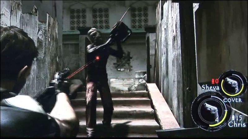 Sur cette photo chris combat un zombie, est-ce un  boss ?