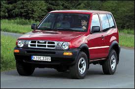 Cousin du Nissan Terrano II, ce 4X4 se nomme ...