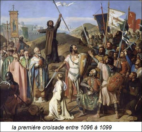 En 1095, c'est le pape Grégoire Ier qui demanda aux évêques d'organiser la première croisade pour aller au secours des chrétiens orientaux.