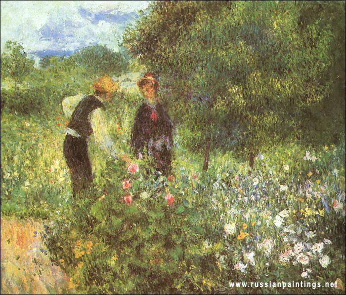"""Qui a peint """"Conversation dans le jardin"""" ?"""