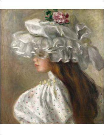 """Qui a peint """"Femme au chapeau blanc"""" ?"""