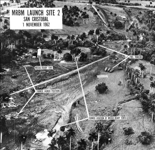 En octobre 1962, quelle crise concernant une île des Caraïbes est sur le point de déclencher un conflit direct entre les Etats-Unis et l'URSS ?