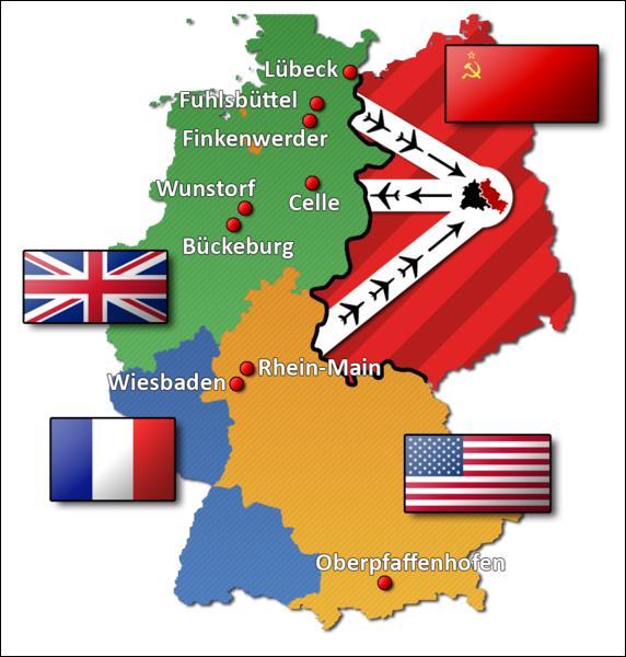 De juin 1948 à mai 1949, l'ancienne capitale du Reich allemand est l'objet d'un blocus par les Soviétiques. Sous quel nom est connu ce blocus ?