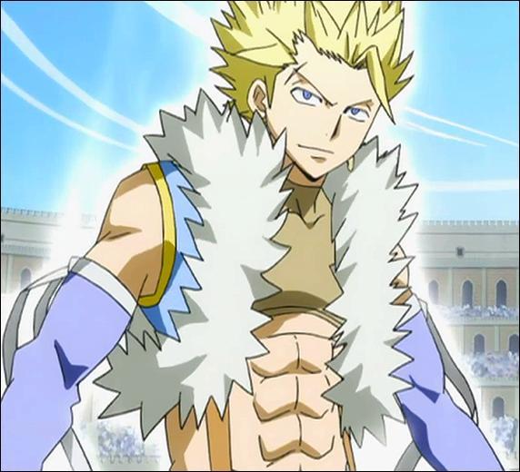 Il est un Dragon Slayer de lumière de troisième génération, le maître de Sabertooth et un membre des Dragons Jumeaux. Qui est-ce ?