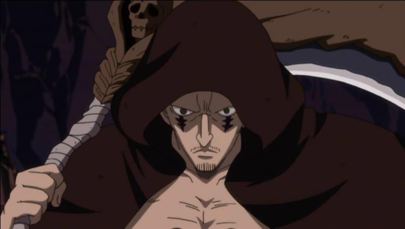 Il était le plus puissant mage de la guilde Eisen Wald et a fait partie de la nouvelle Oracion Seis sous le nom de Grim Reaper. Qui est-ce ?