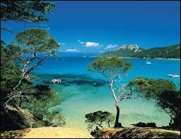 L'île de Porquerolles est la plus grande des trois îles d'Hyères, en Méditerranée.