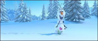 Comment s'appelle le bonhomme de neige créé par Elsa, qui est comme celui qu'Anna et elle faisaient quand elles étaient petites ?