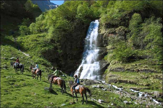 Il est possible d'effectuer des randonnées à cheval ou avec un âne.
