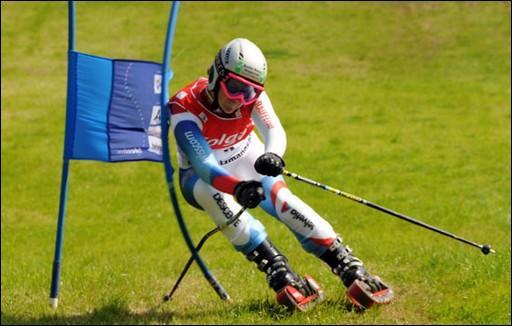 Le ski sur herbe est un excellent moyen de s'entraîner pour la pratique du ski alpin.
