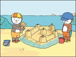 Que fait T'choupi avec son copain à la plage ?