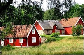 Regardez ___ maisons, elles sont rouges !
