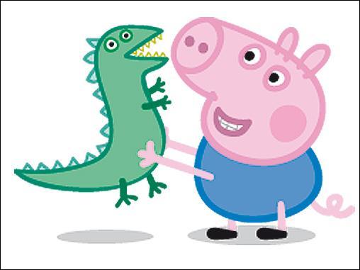 Quel est l'animal du doudou du petit frère de Peppa Pig ?