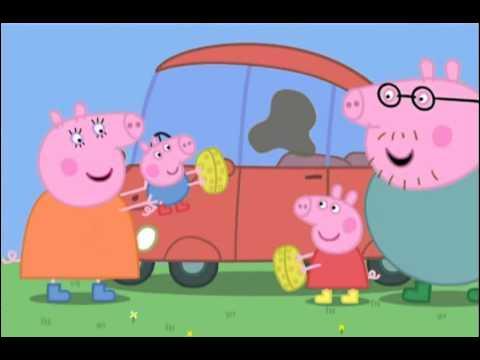De quelle couleur est la voiture de Peppa ?