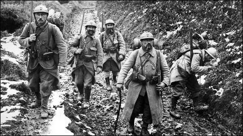 Que se passe-t-il de 1914 à 1918 ?