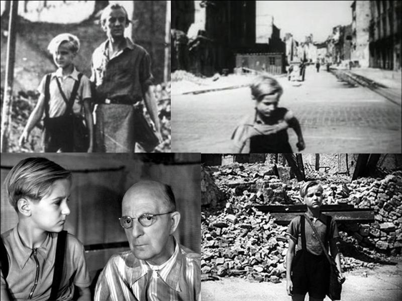 Ce film italien de 1948 est un drame, il est réalisé par Roberto Rossellini. Edmund Meschke , Ernst Pittschau , Ingetraut Hintz… font partie de la distribution. Un jeune garçon de 12 ans essaye de soutenir sa famille dans une ville détruite. Serait-il à la recherche de nouveaux repères ?Quel est ce film ?