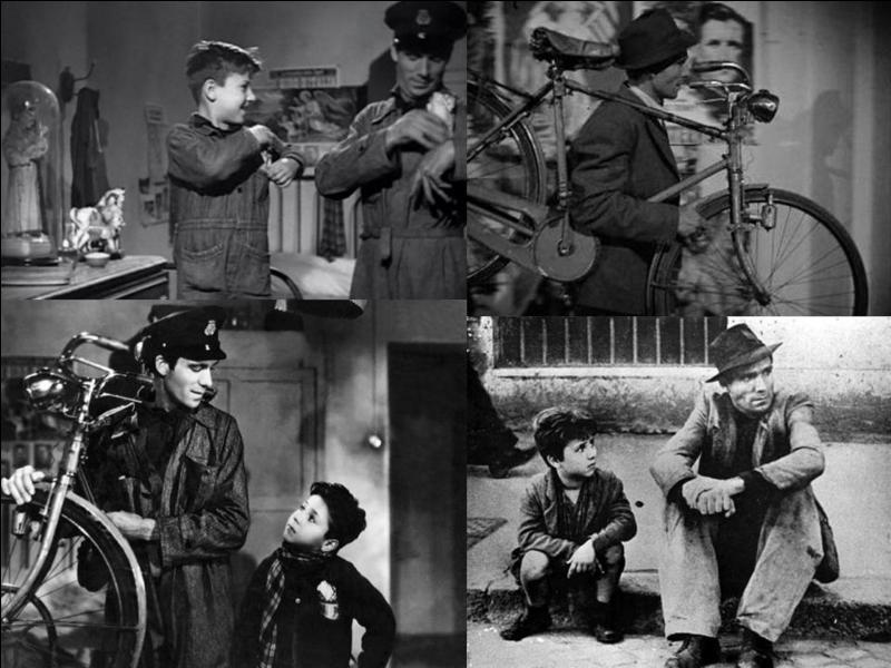 Ce film italien de 1948 est un drame social, il est réalisé par Vittorio De Sica. Lamberto Maggiorani, Enzo Staiola, Lianella Carell… font partie de la distribution. Un chômeur retrouve du travail, mais cela se passe mal, son fils l'aide ! Quel est ce film ?