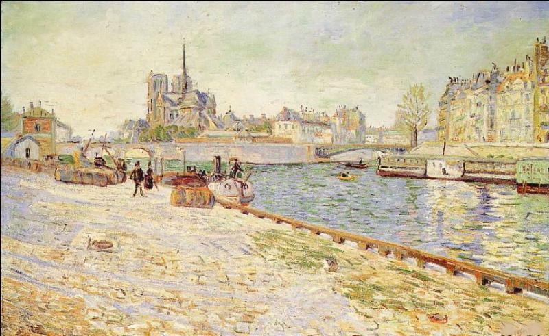 """Qui a peint """"L'île Saint-Louis, Notre Dame"""" ?"""
