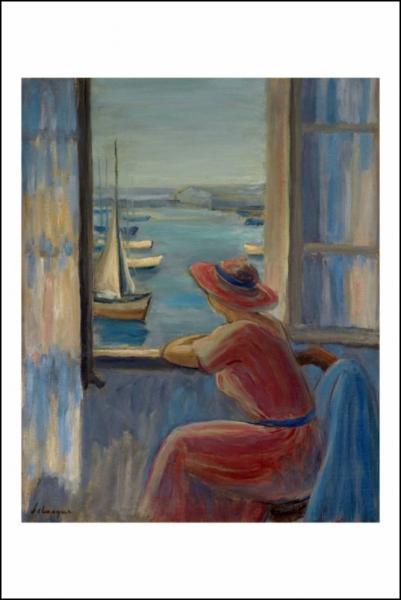 """Qui a peint """"En face de la fenêtre, île d'Yeu"""" ?"""
