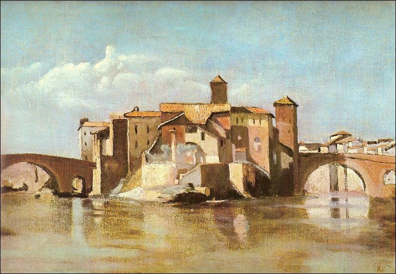"""Qui a peint """"L'île et le pont de San Bartolomeo à Rome"""" ?"""