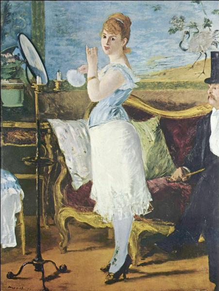 Quel écrivain a réalisé un roman du même nom que la toile d'Edouard Manet ?