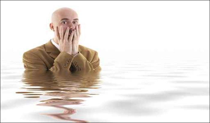 La phobie ou la peur de l'eau.