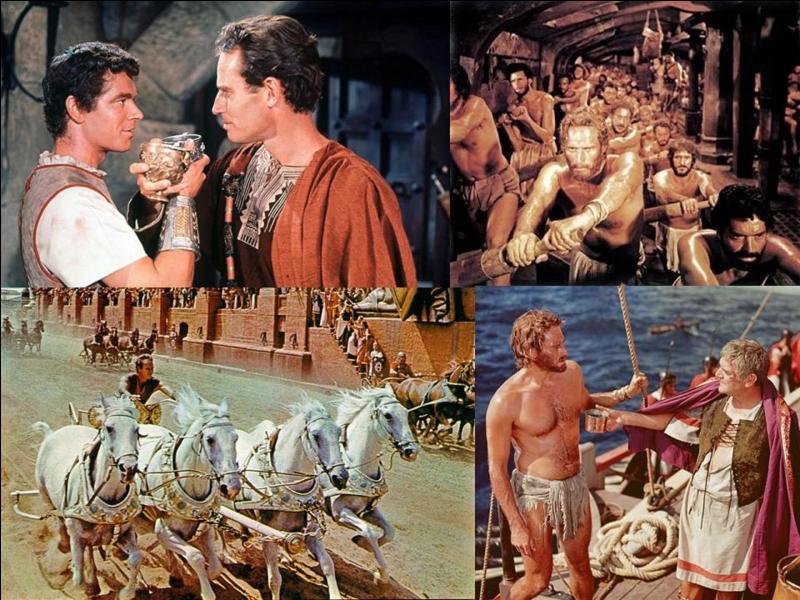C'est un péplum américain de 1959, il a été réalisé par William Wyler.Charlton Heston, Jack Hawkins, Haya Harareet, Stephen Boyd, Hugh Griffith … font partie de la distribution. Une amitié brisée va provoquer la déchéance d'une personne. Il ne lui restera que les courses de chars et une bataille navale pour survivre.Quel est ce film ?