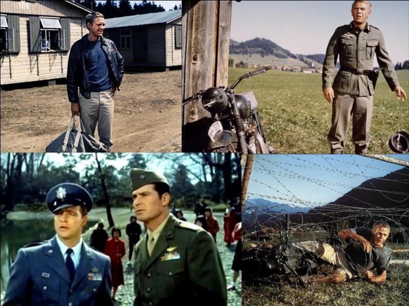 C'est un film de guerre américain de 1963, il a été réalisé par John Sturges.Steve McQueen, Hannes Messemer, James Coburn, Charles Bronson … font partie de la distribution.Ces hommes essayent de réaliser un commandement que chaque soldat qui est pris par l'ennemi se doit de respecter.Quel est ce film ?