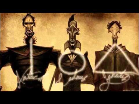 Quels sont les prénoms des trois frères du conte des reliques de la mort ?