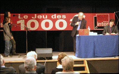 """""""Chers amis bonjour ! """" : fut l'inoubliable expression de l'animateur du jeu des 1000 francs :"""