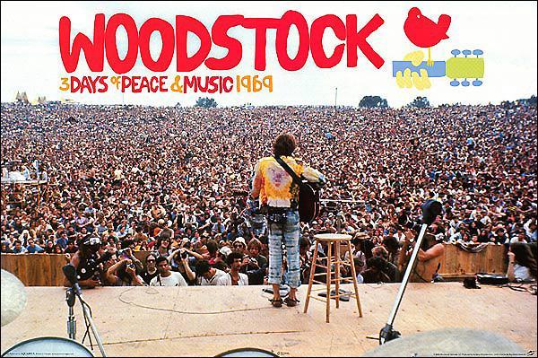 Combien de spectateurs ont assisté au festival de Woodstock en 1969 ?