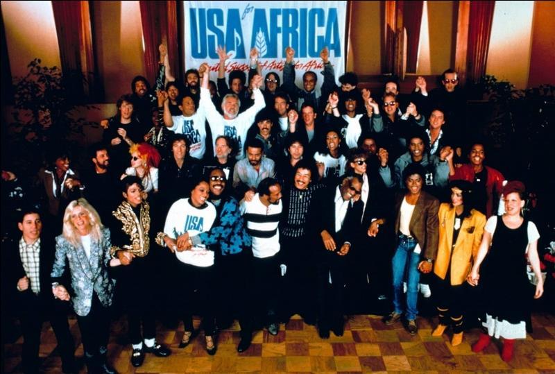 """Le single """"We are the world""""du groupe """"USA for Africa"""" avait pour but de collecter des fonds pour lutter contre la famine dans quel pays ?"""