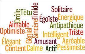 Le caractère d'une personne est composé de ses qualités et défauts. C'est aussi...