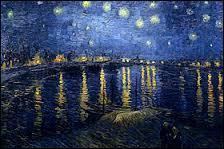 """Qui a peint ce tableau intitulé """"Nuit étoilée sur le Rhône"""" ?"""