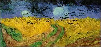 """""""Champs de blé aux corbeaux"""" est un tableau peint par ..."""