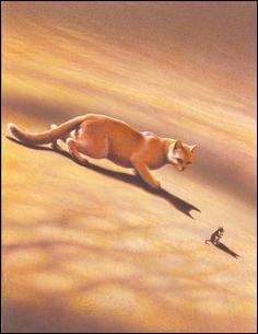 Ce chat-là chasse. Comment l'appelle-t-on ?