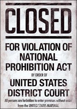 A quelle période la Prohibition (de l'alcool) était-elle d'application aux Etats-Unis ?
