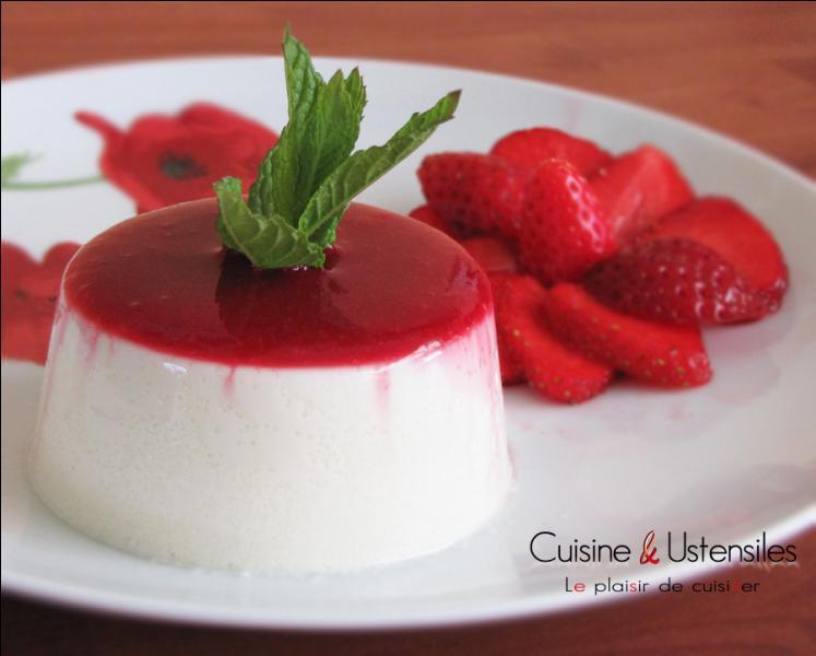 Quel est ce dessert italien fabriqué à partir de crème, de lait et de sucre ?